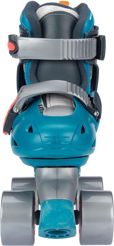 cacd98e2207 Nijdam Junior Rolschaatsen Junior Verstelbaar Hardboot - Blauw - Maat 34-37