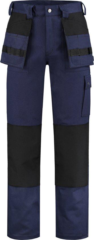 Yoworkwear Werkbroek 100% katoen navy-zwart maat 54