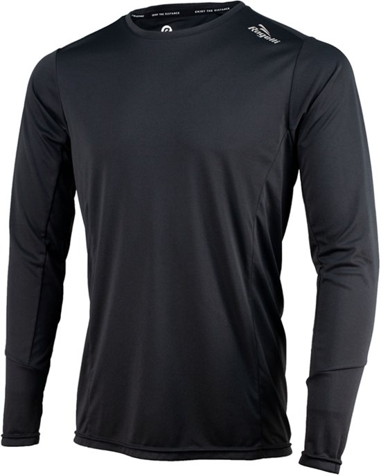 Rogelli Basic Running Longsleeve Heren  Sportshirt - Maat L  - Mannen - zwart