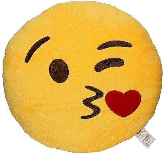Emoji Emoticon Smiley Kussen-Kus Gooien