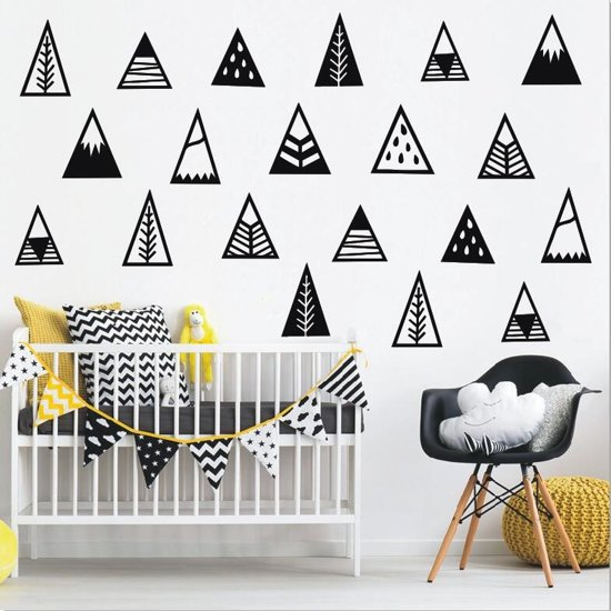 Muursticker figuren set piramides - tipi's | babykamer - kinderkamer | hip - modern
