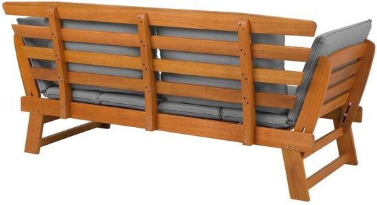 Beliani Portici Tuinbank Licht houtkleur Hout