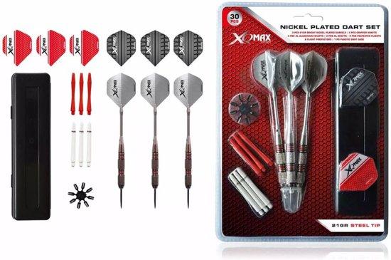 XQMax - Nickel Plated Dart Set - 21 gram - 33 pcs - dartpijlen