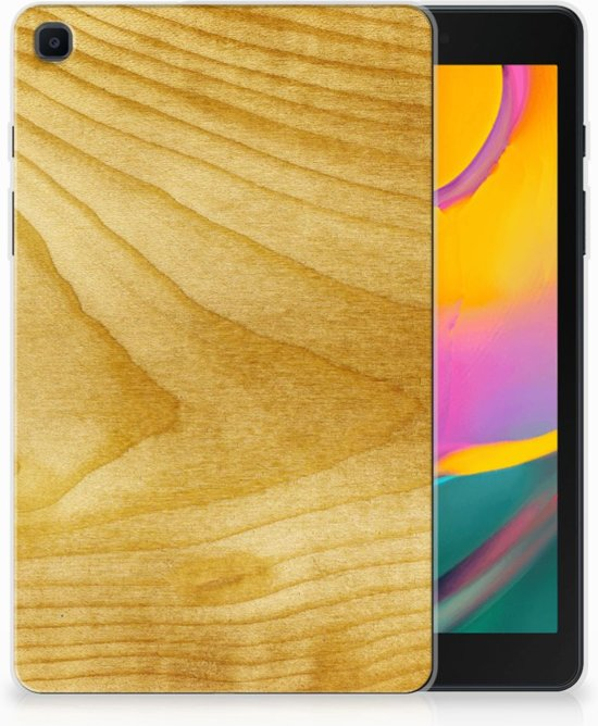 Samsung Galaxy Tab A 8.0 (2019) Silicone Tablet Hoes Licht Hout