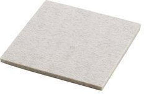 Daff Onderzetter - Vilt - Vierkant - 10 x 10 cm - Aluminium mel. - Grijs