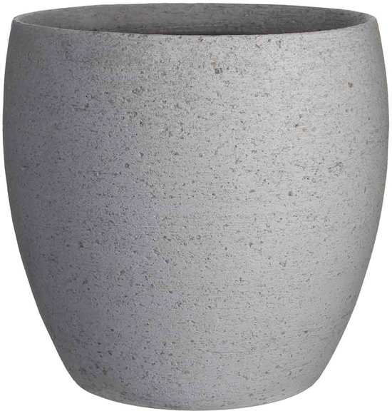 Mica Decorations- Pot Rond PEDRA H30D32 L.Grijs ES 27