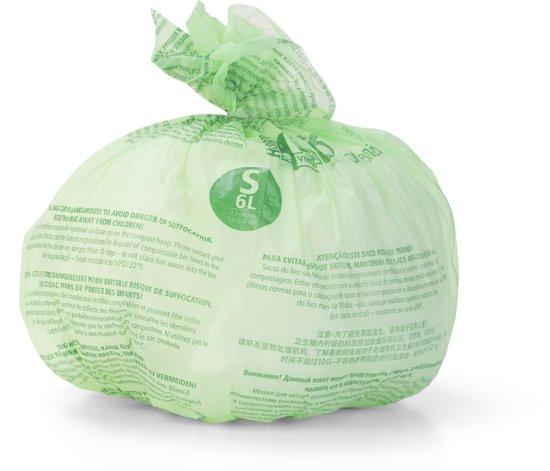PerfectFit composteerbare afvalzak code S, 6 liter, 10 stuks/rol