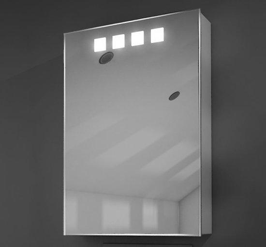 bol.com   Aluminium kastje met verlichting en stopcontact 50 cm breed