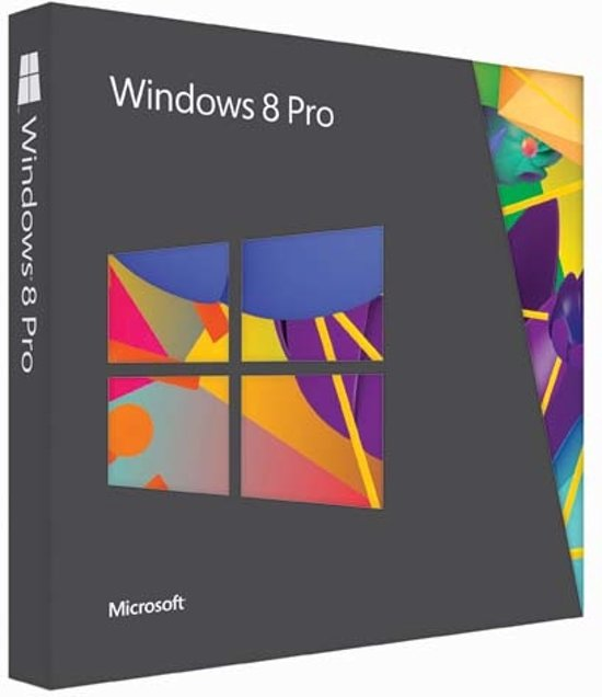 Microsoft Windows 8 Pro DVD Engels Upgrade - 32-bit/64-bit