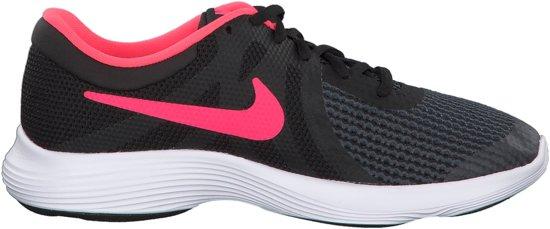 Nike Revolution 4 (GS) Sneakers - Maat 38.5 - Unisex - zwart/roze
