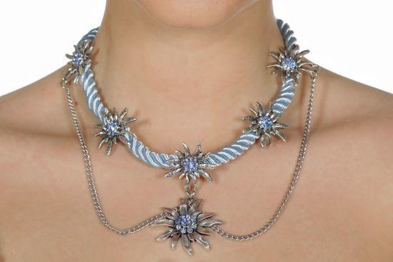 Ketting edelweiss licht blauw