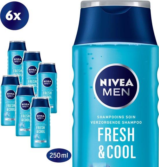 NIVEA MEN Cool Shampoo - 6 x 250 ml - Voordeelverpakking