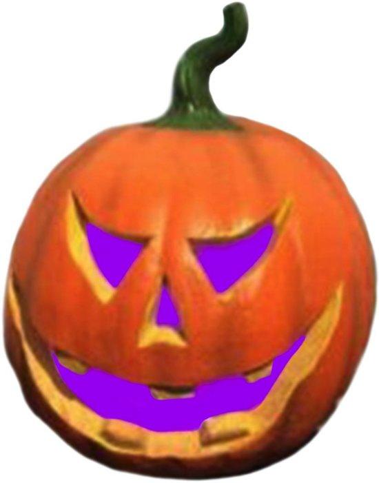 Pompoen Halloween.Halloween Pompoen Met Kleur Lampen