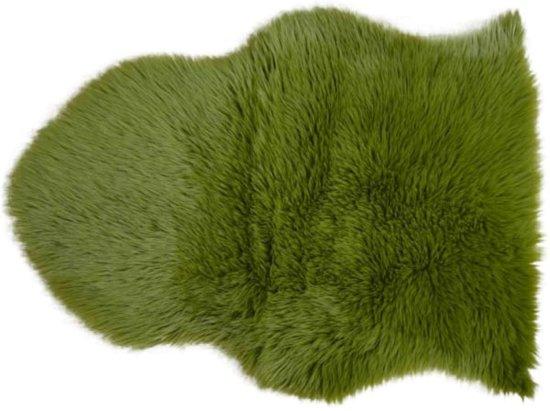 Schapenvacht 65 x 90 cm groen