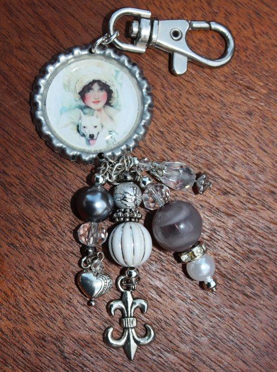 Sleutelhanger, Keychain, fiets, auto, huis sleutels