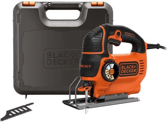 BLACK+DECKER - KS901SEK-QS - 620W Pendeldecoupeerzaag met Autoselect en koffer