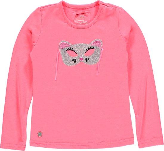Bampidano Meisjes T-shirt  Roze met masker - Maat 128