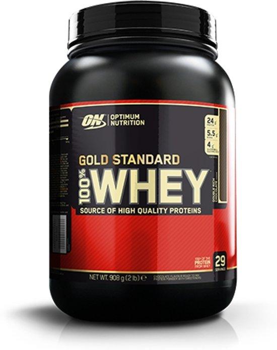 Optimum Nutrition 100% Whey - Eiwitpoeder / Eiwitshake - 908 gram - Double Rich Chocolade