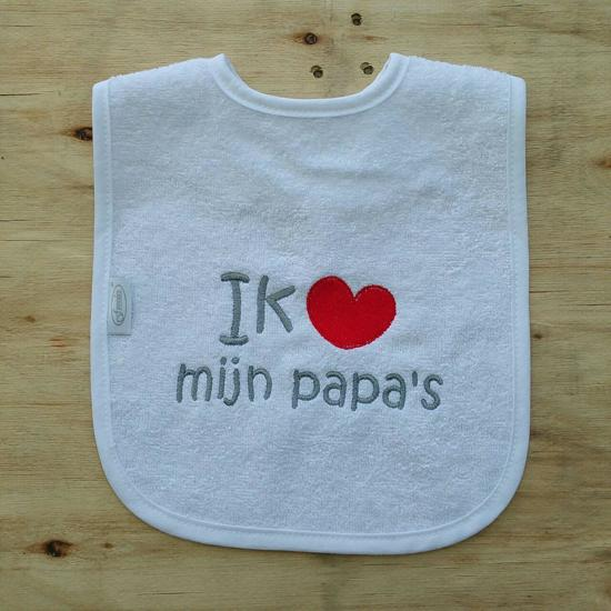 """Witte slab met """"Ik hou van mijn papa's"""""""