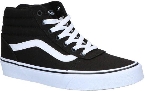 c89e1144c40234 Vans Ward Hi Sneakers Dames - Maat 39 - (Canvas) Black White