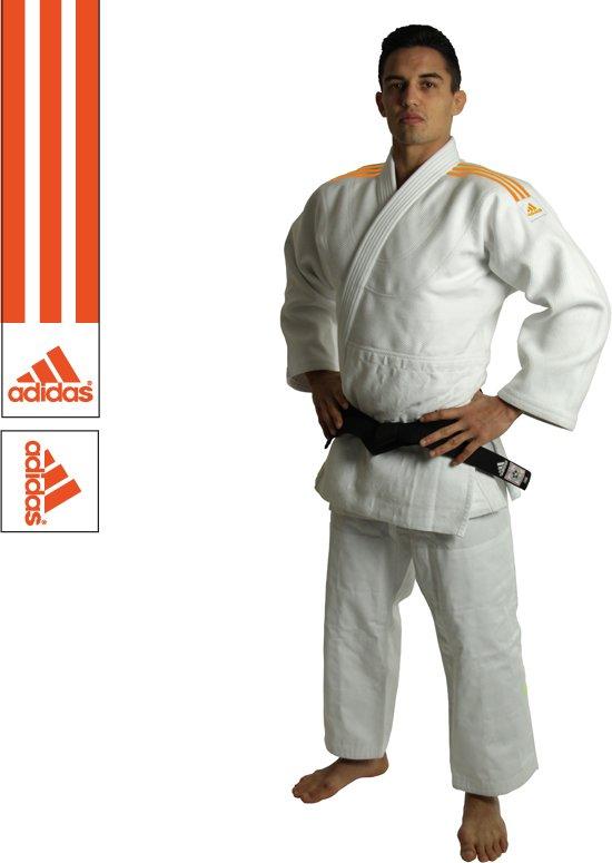 adidas Judopak J990 Millenium Wit/Oranje 155cm