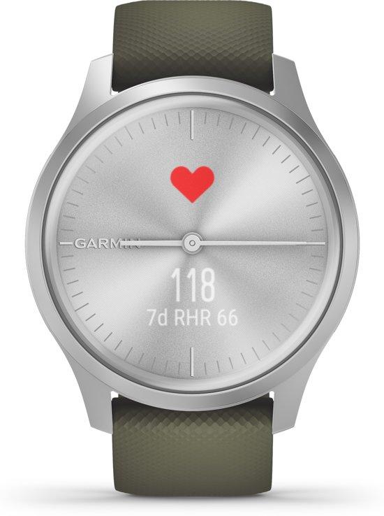Garmin Vivomove Style - Smartwatch - Zilver/lichtgroen