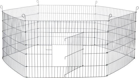 Adori konijnenren metaal zwart - 63 x 90 cm
