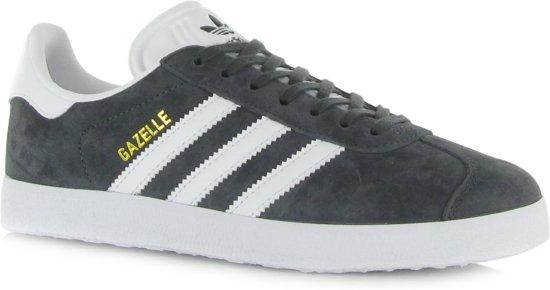 adidas Gazelle Heren Sneakers - Dgh Solid Grey/White/Gold Met. - Maat 42