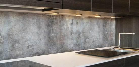 Beton keuken achterwand 305 x 50 cm