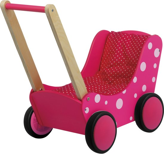 Poppenwagen roze Simply for Kids 60x32x55 cm  (01170)