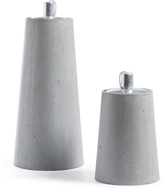 Kave Home Lux Set 2 Olielampen - Cement - Lichtgrijs