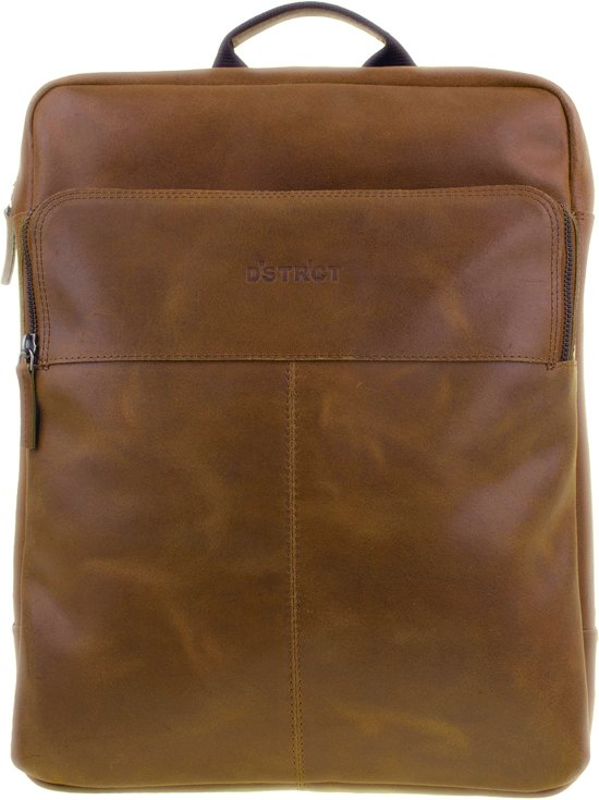 DSTRCT Limited Rugtas 15,6 inch Laptoptas - Cognac