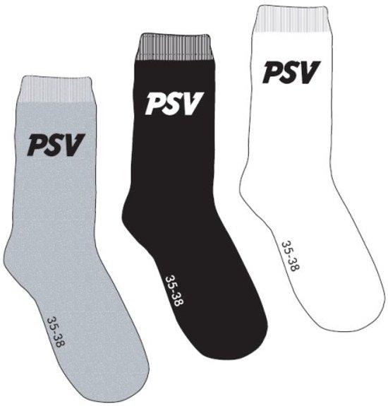 PSV - Voetbalsokken - Unisex - 27-30 - Grijs;Wit;Zwart