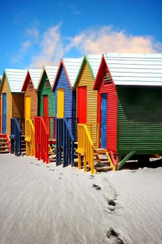 Bright Colorful Beach Huts in St James Cape Town South Africa Journal