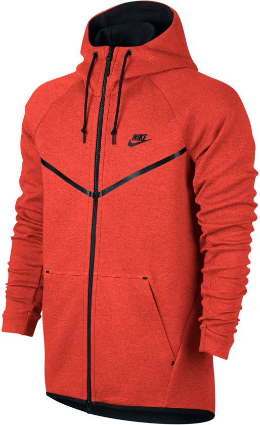 693b1e32d325 Nike Sportswear Tech Fleece Windrunner Sporttrui - Maat S - Heren - oranje  rood