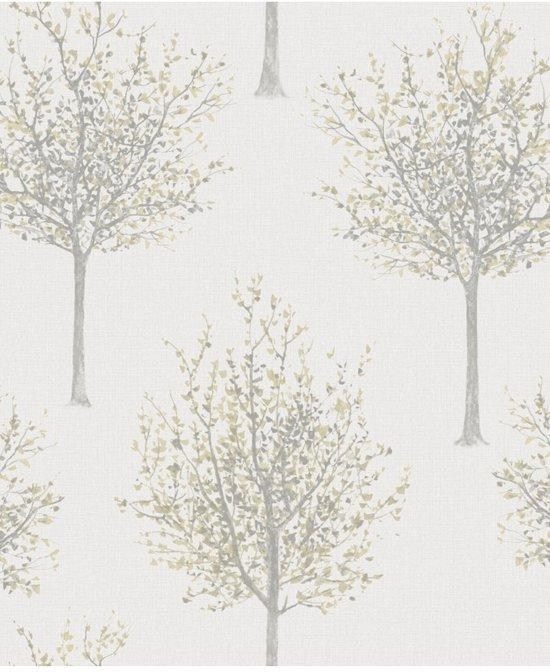 Nordic Elegance bomen grijs behang (vliesbehang, grijs)