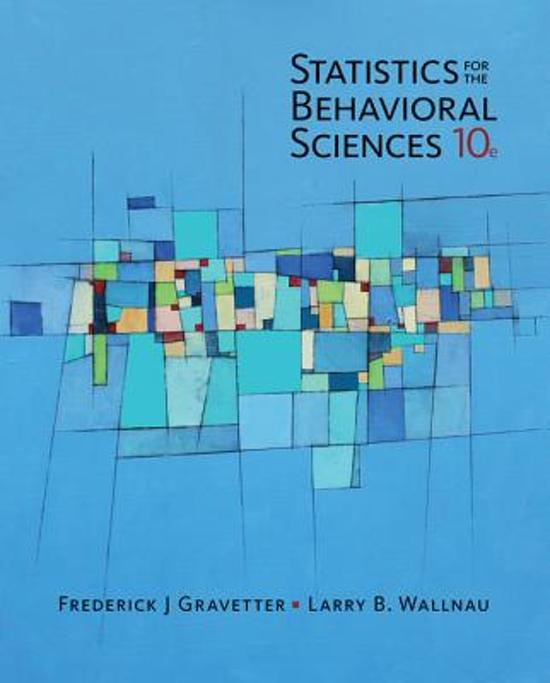 Boek cover Statistics for The Behavioral Sciences van Frederick J. Gravetter (Paperback)