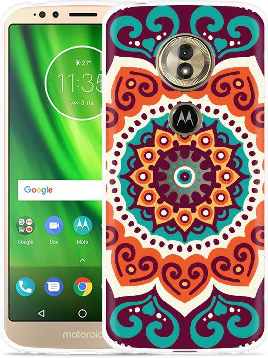 Moto G6 Play hoesje Retro Mandala