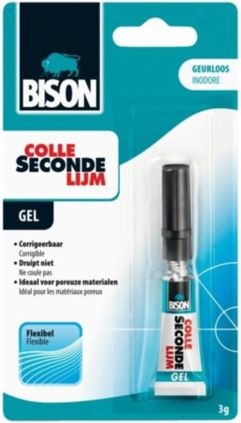 Bison Secondelijm Gel 3 g (4 tubes)