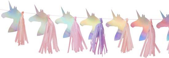 Ginger Ray Make A Wish - Unicorn slinger met Tassels - holografisch - 1,50 meter Valentinaa