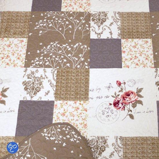 Quilt 1 Persoons.Lavandoux Bedsprei Quilt Vintage Rose 140x200 1 Persoons