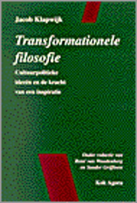 Filosofie Aan De Keukentafel.Bol Com Transformationele Filosofie Jacob Klapwijk