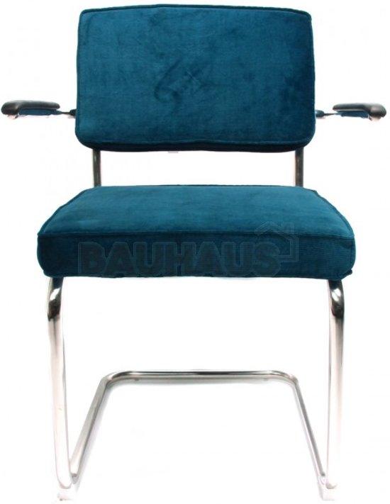 bauhaus bruut rib met armleuning blauw. Black Bedroom Furniture Sets. Home Design Ideas