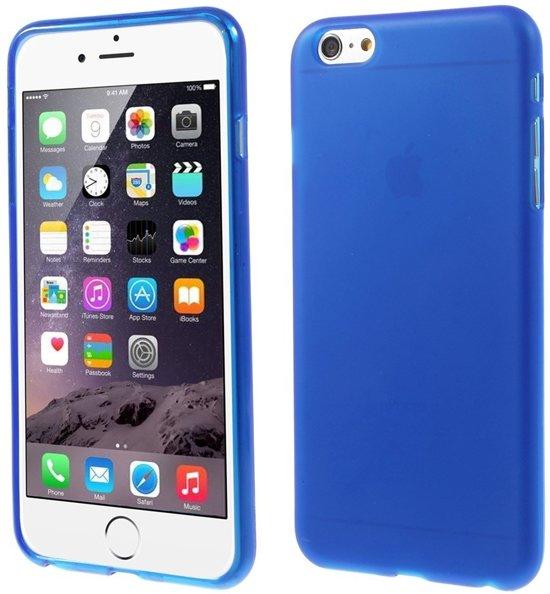 Apple iPhone 6 Plus | 6s Plus Hoesje Blauw (flexibel) in Zwolle