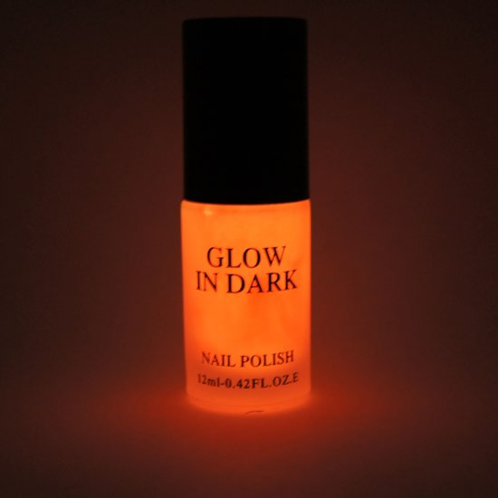 Glow in the Dark Nagellak Donker Oranje