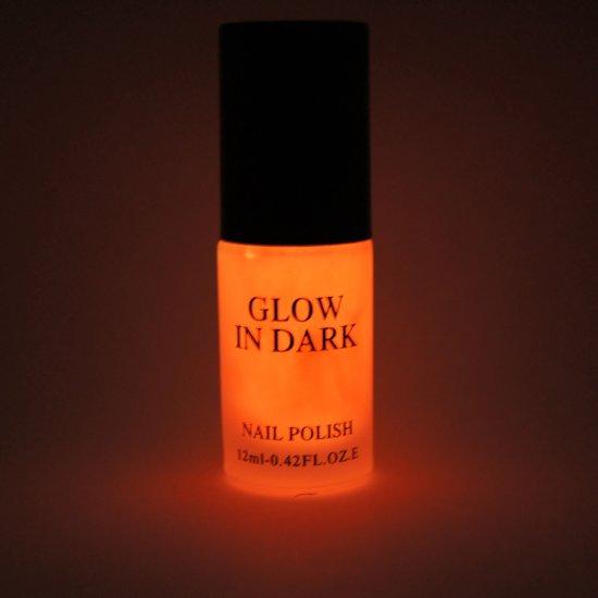 Glow in the Dark Nagellak Donker Oranje