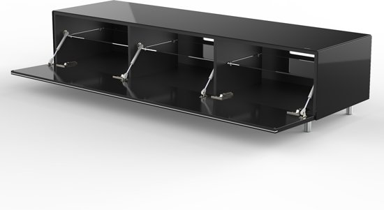 Design Tv Meubel Glas.Bol Com Spectral Just Racks Jrl1652s Bg Tv Meubel In Zwart