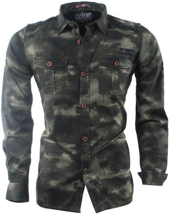 Overhemd Mannen.Bol Com Mz72 Heren Overhemd Borstzakken Camouflage Dilitar