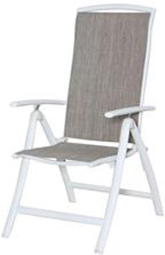 Standenstoel aluminium met textileen kleur wit for Standenstoel tuin