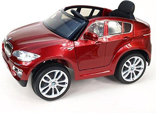 Bol Com Bmw X6 Rood Elektrische Kinder Accu Auto 6 V Met